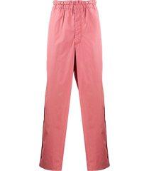 comme des garçons shirt straight-leg cotton trousers - pink