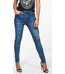 jane mid rise henna print skinny jeans
