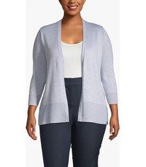 lane bryant women's open front cardigan 22/24 heather gray