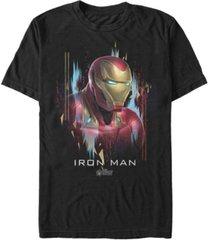marvel men's avengers endgame distorted ironman portrait short sleeve t-shirt