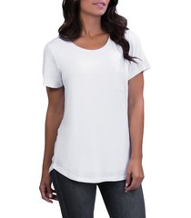 belly bandit(r) perfect maternity/nursing tee, size small in white at nordstrom