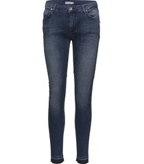 slim fit jeans w. raw edges slim jeans blauw coster copenhagen