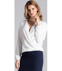 bluzka elegancja z kopertowym dekoltem