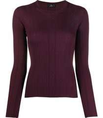 etro panelled fitted pullover - red