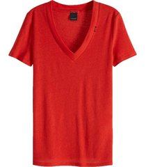 t-shirt feminine rood