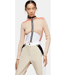 *pink knitted layering ski bodysuit by topshop sno - pink