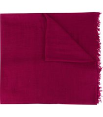 ann demeulemeester frayed cashmere scarf - purple