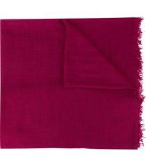 ann demeulemeester frayed cashmere scarf - purple