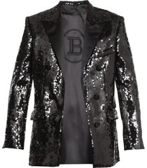 balmain bouble breasted blazer with sequins