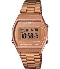 reloj casio retro unisex  b640wc-5a  - oro rosa