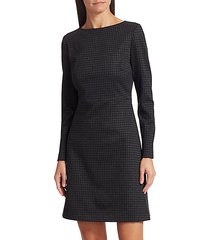 kamillina houndstooth shift dress