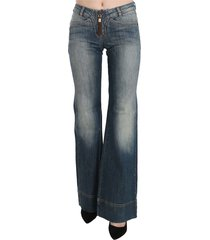 washed mid waist boot cut denim pants jeans