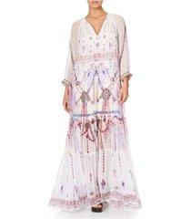 camilla long gathered panel dress tanroad