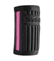 munhequeira treino hidrolight cross tam ajustável preta/rosa