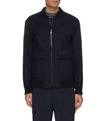'brigade' diagonal padded reversible jacket