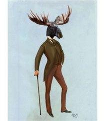 "fab funky moose in suit, full canvas art - 15.5"" x 21"""