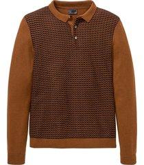 maglione stile polo (marrone) - bpc selection