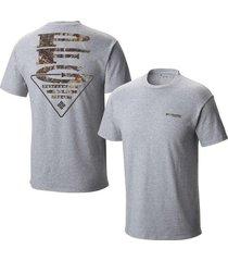 camiseta columbia gris talla s