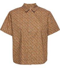 mina shirt ss aop 11332 overhemd met korte mouwen bruin samsøe samsøe
