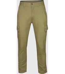 pantalón cargo casual regular fit khaki andesland
