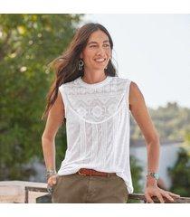 sundance women's pirouette t-shirt petite in white petite xl