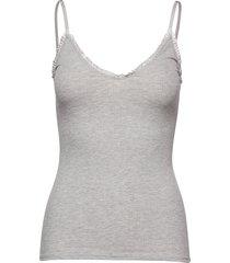 solid taylor top t-shirts & tops sleeveless grå becksöndergaard