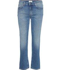 straight denim jeans wijde pijpen blauw totême