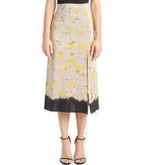 felice floral silk skirt