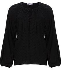 blusa unicolor manga larga color negro, talla m