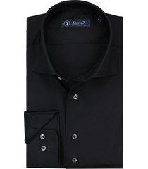 sleeve7 heren overhemd luxe satijn zwart