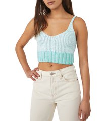 free people intimately fp here all day knit bralette, size medium in ivory combo at nordstrom