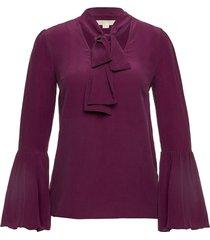 blouse met gelaagde mouwen