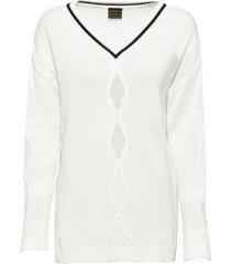 maglione oversize (bianco) - rainbow