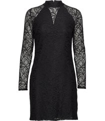 dress knitted fabric korte jurk zwart taifun