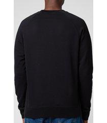 maison kitsuné men's tricolor fox patch clean sweatshirt - black - xxl