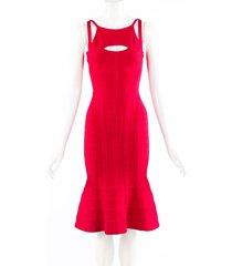 herve leger lorin pink sleeveless bandage dress pink sz: xs