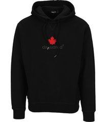 dsquared2 d squared maple leaf-print hoodie
