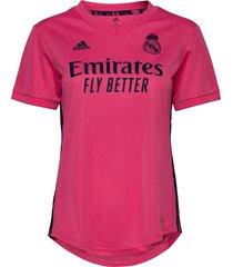 real madrid women's away jersey t-shirts & tops football shirts roze adidas performance