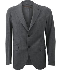 grey notch lapel jacket