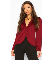 button front blazer, wine