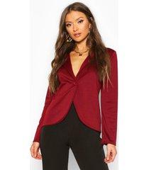 button front blazer, wine