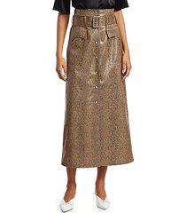 aarohi snake vinyl midi skirt