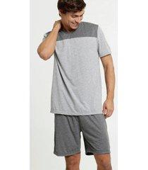 pijama masculino recorte manga curta mr