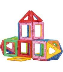 blocos de montar magnéticos formas vazadas magforma 30 peças