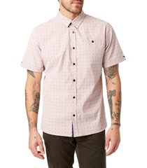 men's 7 diamonds come tomorrow slim fit shirt, size x-large - red