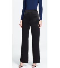women's st. john collection 'kate' liquid satin pants, size 10 - black
