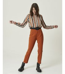 camisas mangas largas marrón portsaid taylor