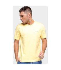 camiseta básica masculina pierre cardin malha lisa casual amarelo p amarelo