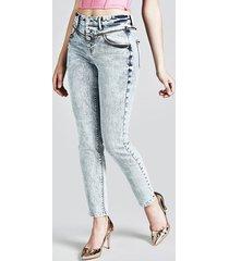 jeansy model skinny z guzikami