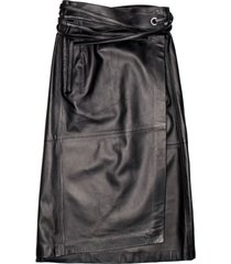 ambush leather wrap skirt